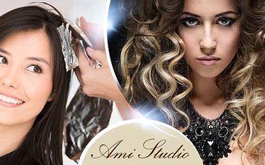 Kadeřnický balíček pro všechny délky vlasů! Mytí, střih konečků, foukaná + barvení vlasů klasicky či ombré hair!