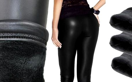 Sexy teplé legíny s kožíškem v černé barvě. Mějte své nožky v teple a přitom je vystavte na obdiv v černých hřejivých legínách. Jsou zatepleny kožíškem a jsou až do velikosti XXL.