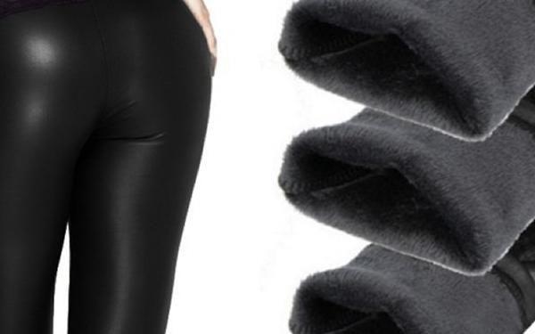 Sexy teplé legíny s kožíškem v černé barvě až do velikosti XXL.