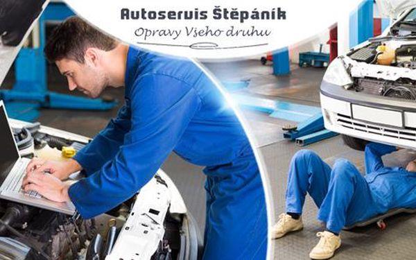 Kompletní prohlídka automobilu vč. diagnostiky, kontroly podvozku a zjištění závad - Autoservis Štěpáník!