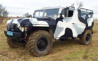 30minut řízení vojenského automobilu Gaz Tigr na tankodromu v Milovicích