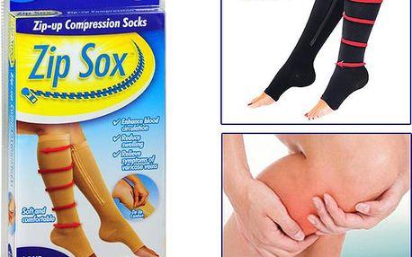ZIP Sox - Kompresní punčochy s praktickým zipem