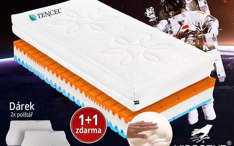 Zdravotní matrace Viscopur Cosmic 24cm 1+1 zdarma, doprava+dárky Velikost: 180x200 cm - 1ks (sleva 50%)