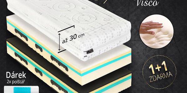 Matrace Tropico SPIRIT Superior VISCO 30cm 1+1 zdarma + dárek 2 polštáře Velikost: 90x220 cm - 1+1 zdarma (2ks)
