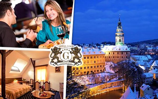 4* luxus a romantika v Hotelu Gold Český Krumlov