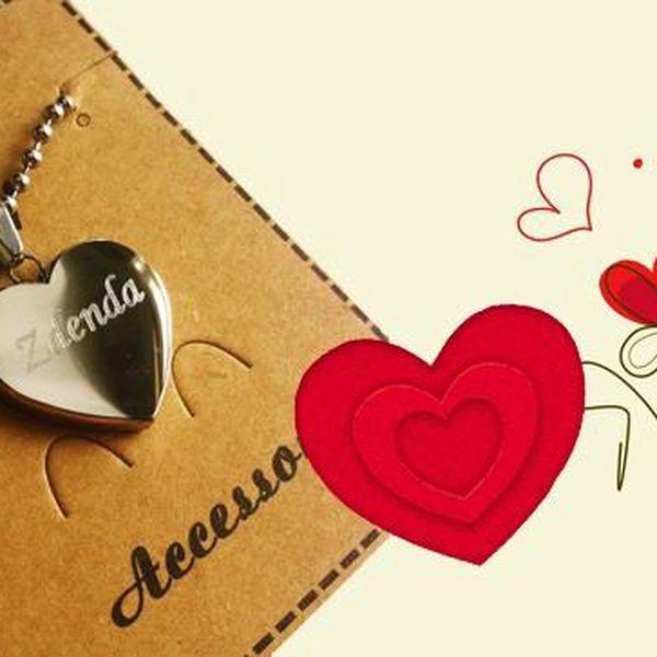 Valentýnské srdce s gravírováním