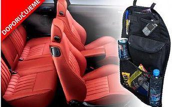 Kapsář do auta na zadní část sedadla za 99 Kč! Hodí se do všech typů aut a nejenom, že budete mít vše pěkně uklizené, kapsář chrání i sedadlo před okopáním od vašich ratolestí!