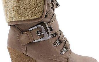 Zimní boty na klínku WZL76 KH 37