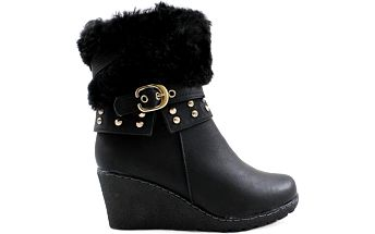 Zimní boty na klínu M51861B Velikost: 37