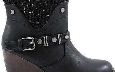 Kotníkové boty na klínku NT1015-1B 39