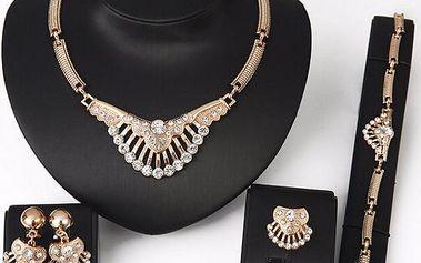 Sada šperků s kulatými kamínky