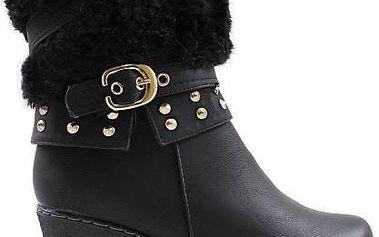 Zimní boty na klínu M51861B 40