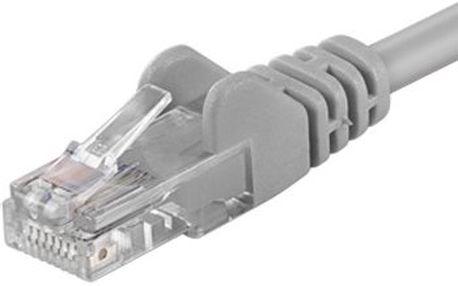 PremiumCord Patch kabel UTP CAT6, 20 m, šedý
