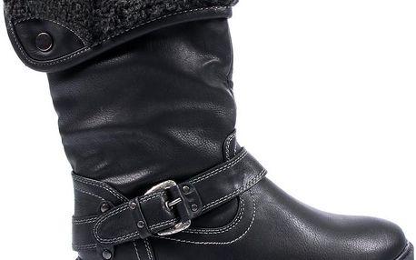 Černé kozačky MK08702-1B 40