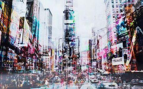 KARE DESIGN Obraz/Obrázek sklo Times Square Move 120x16 Doprava zdarma