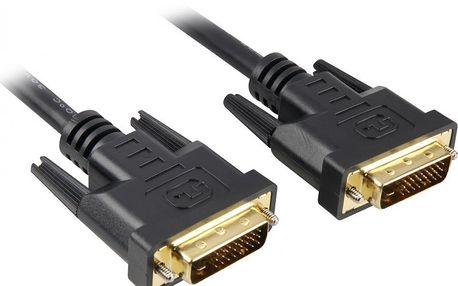 PremiumCord DVI-D propojovací kabel (dual-link - 24+1), MM, 2 m