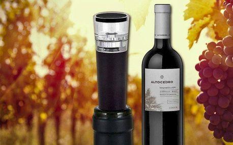 Vynikající argentinské víno a vakuová pumpa