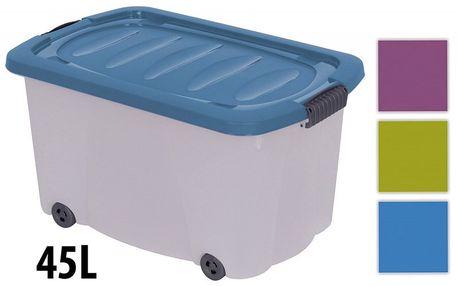 KAISERHOFF Pojízdný úložný box s víkem 45 l (KO-890266), modrá
