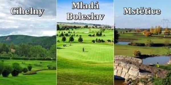 Jarní golf na 3 oblíbených hřištích - Green fee Cihelny + Mladá Boleslav + Mstětice prověří vaší formu v první půlce sezony.
