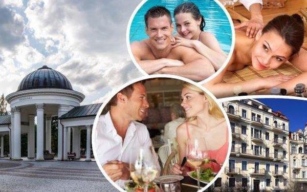 Exkluzivní lázeňský balíček! Ubytování pro 2 osoby v prvorepublikovém hotelu Romania 200 m od kolonády s polopenzí a spoustou wellness procedur! 3, 4 nebo 6 denní dovolená plná hýčkání v Mariánských Lázních!