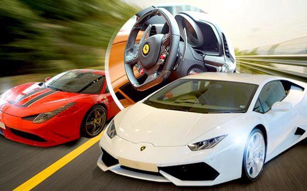 Zážitková jízda ve Ferrari, Lamborghini nebo Porsche v Podkrkonoší! 30 minut adrenalinu! Platnost do konce srpna!