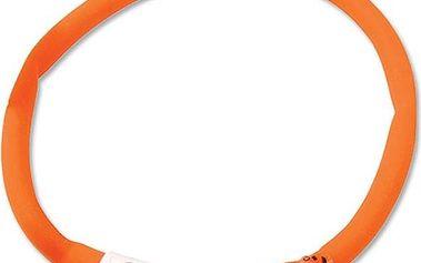 Dog Fantasy LED svítící obojek 45 cm oranžový