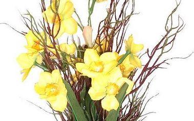 Umělé květiny - narcisy s trávou