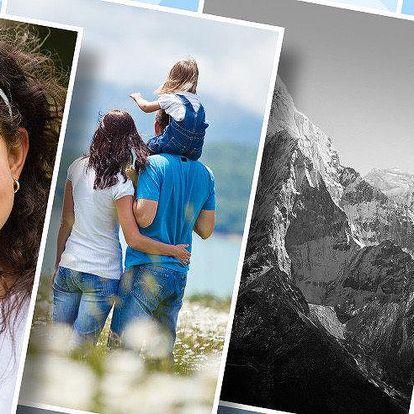 4 vlastní fotografie vyvolané ve formátu A4
