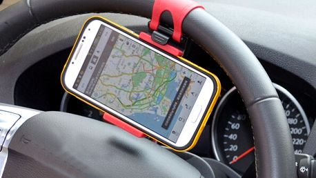 Držák na smartphone nebo GPS na volant auta
