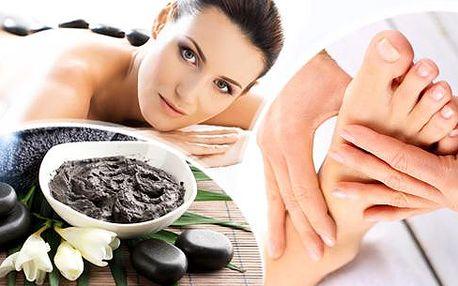 2,5hod. relaxační balíček pro Vaše tělo! Masáž zad, šíje, chodidel, masáž lávovými kameny a bahenní zábal!