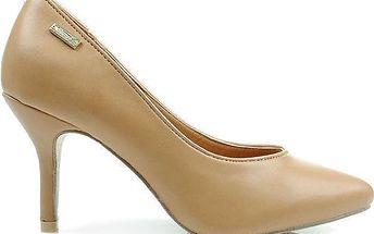 Klasické dámské lodičky na jehlovém podpatku X415-1 Fashion Boty Barva: hnědá, Velikost: 40