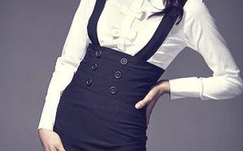 Nezvykle stylová a elegantní černá dámská sukně Figl 10