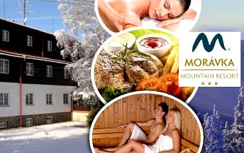 Ubytování pro dva s polopenzí v Morávka Mountain Resort s koupáním v bazénu se slanou vodou!