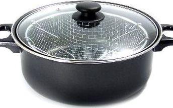 Fritéza Utilinox JOM31026 s poklicí, černá