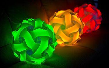 Designová Puzzle Lampa pro snadné vytvoření originální lampy