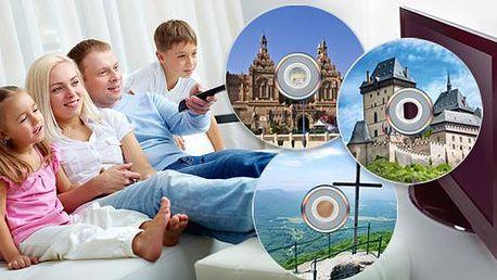 Sada 9-16 poučných DVD včetně poštovného! Poznejte památky starověku nebo nejkrásnější místa České republiky!
