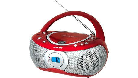 Přenosné rádio s CD Sencor SPT 226 červená