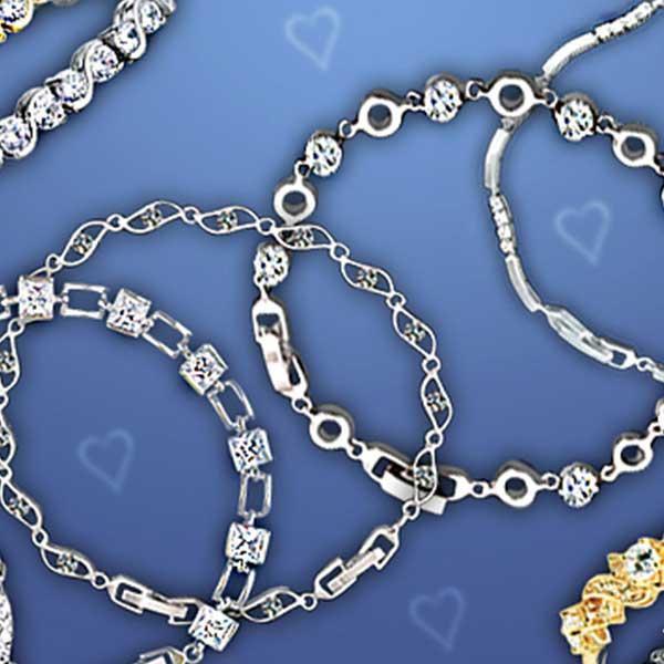 Překrásné náramky se třpytem diamantů