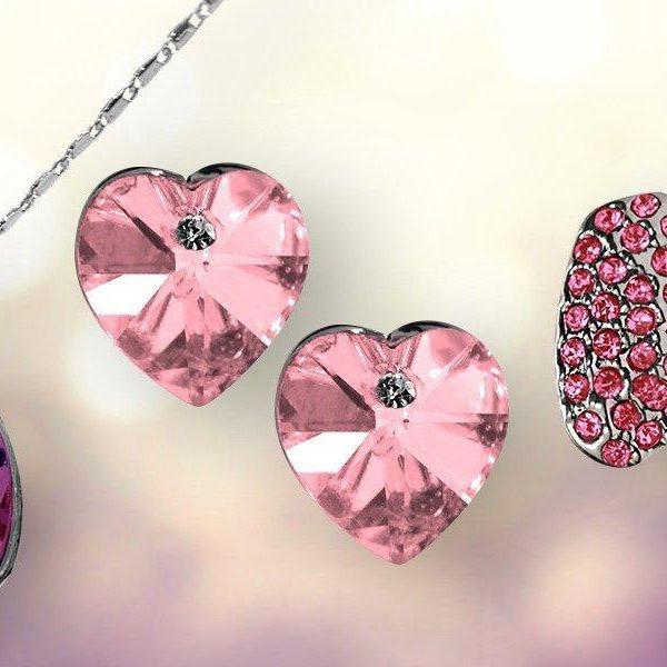 Elegantní dvoudílná sada šperků s krystaly