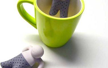 Sítko na sypaný čaj ve tvaru panáčka