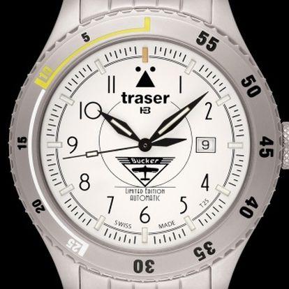 Traser Bücker Automatic Titan White titan + pojištění hodinek, doprava ZDARMA, záruka 3 roky