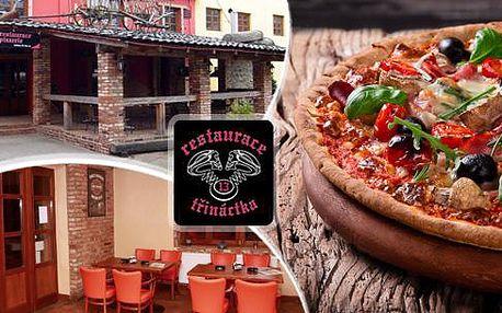 2x pizza dle vlastního výběru! Výběr ze 13 druhů pizz. Stylová restaurace v motorkářském stylu ve Frýdku Místku.