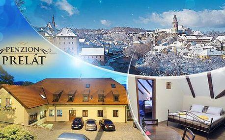 Kouzelný Český Krumlov! Romantický pobyt na 3 až 6 dní pro dva se snídaní a spoustou výhod v penzionu Prelát***!