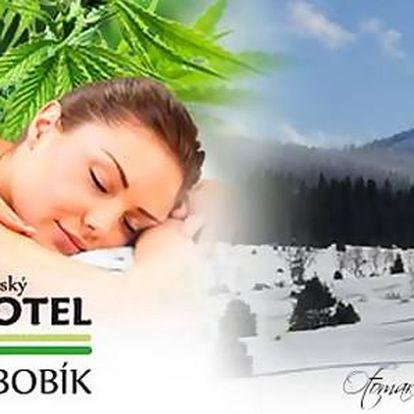 Největší konopné lázně v Evropě s procedurami, polopenzí v Hotelu Bobík a slevou do skiareálu