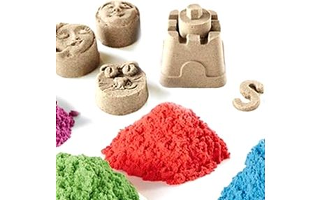 Barevný tekutý písek ve 4 barvách, 6 formiček a lopatka. Hit mezi hračkami. Doručení zdarma!!