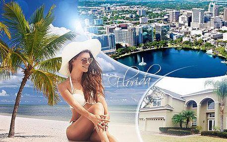 USA - Orlando, Florida! 10 dní pro 1 osobu v soukromé vile s polopenzí, delegátem a bohatým programem!
