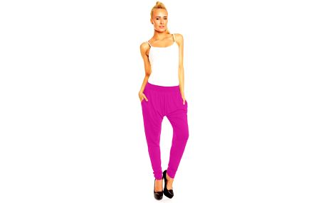 Akce - Dámské kalhoty aladinky Megan – růžovo-fialové L/XL