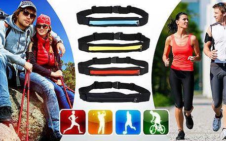 Sportovní opasek s pouzdrem - výběr ze 4 barev. Vhodný na sport, běhání a turistiku - do pouzdra uložíte klíče, mobil i peněženku.