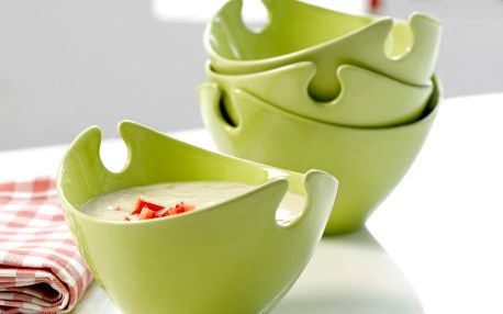 Set čtyř porcelánových misek Milano Green