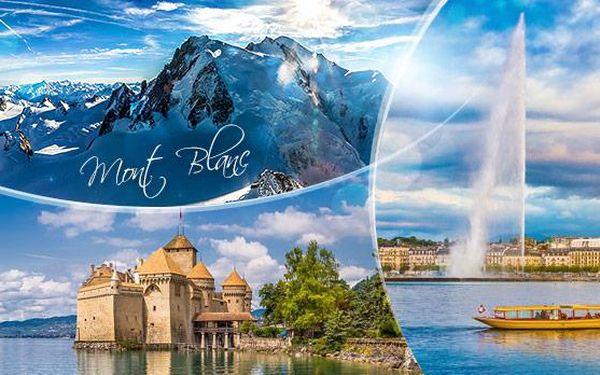 Ženeva a Mont Blanc, 3denní zájezd pro 1 osobu z Prahy a Plzně až k vrcholkům Alp, 3 víkendové termíny 5-7/2016!